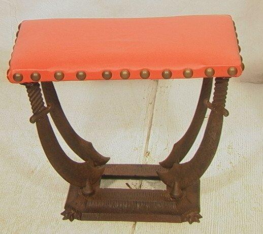 14: Verona Decorator Iron Base Bench.  Art Deco.  Ora