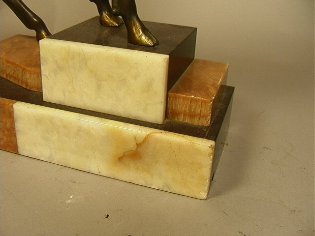 215: Art Deco Bronze Sculpture of Stag Deer on Marble - 4