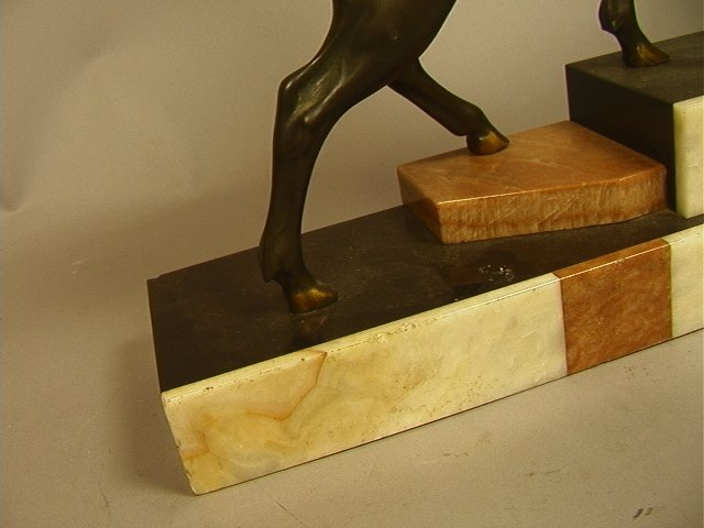 215: Art Deco Bronze Sculpture of Stag Deer on Marble - 5