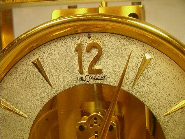 263: LeCOULTRE Brass Glass Atmos Clock. - 3