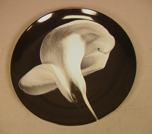 1: SWID POWELL Robert Mapplethorpe Calla Lily Plate.