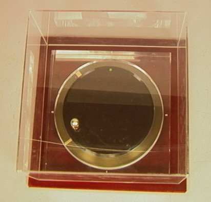 """2: 70's Modern Mystery Clock by JECO.  1 1/4"""" thick"""