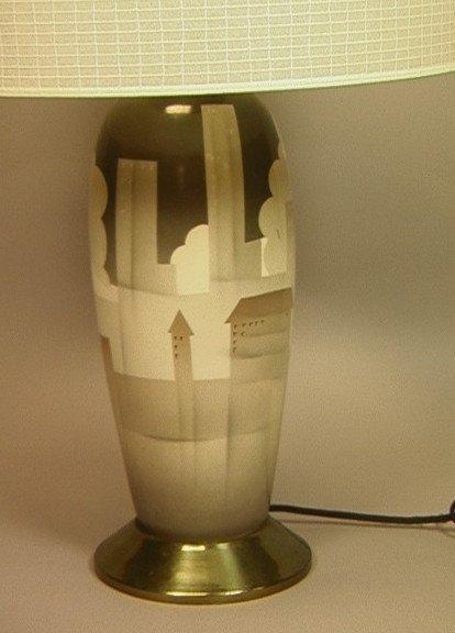 4: WAYLANDE GREGORY style Table Lamp. Skyline. Citys