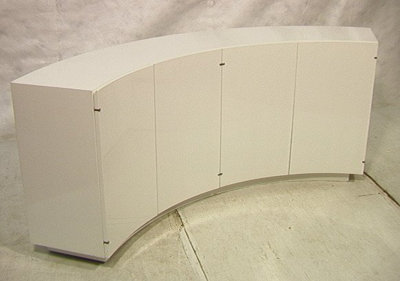 12: TOMMI PARZINGER Style Curved Concave Sideboard Cr