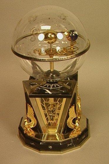 15: DAVID BARAKY Aquarian Age Clock. Art Deco style C