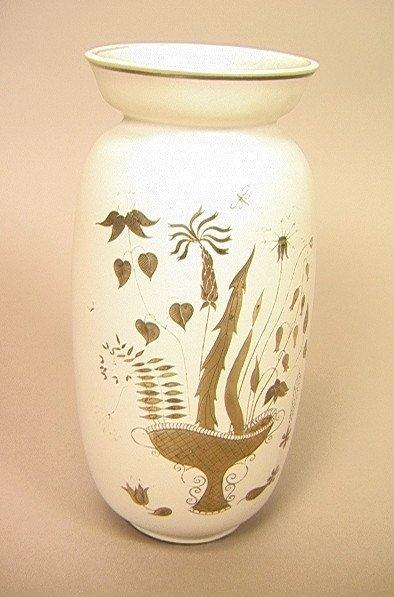 21: Stig Linberg GUSTAVSBERG Vase. Sterling Overlay o