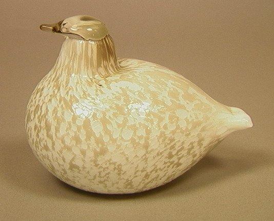 23: OIVA TOIKKA Art Glass Bird Dove. Finland. Arabia.