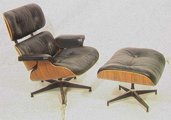 48: Herman Miller Lounge Chair & Ottoman. CHARLES & R