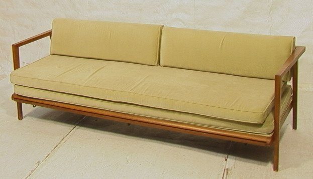 384: MC Modern Daybed Sofa Couch with Trundle. Walnut