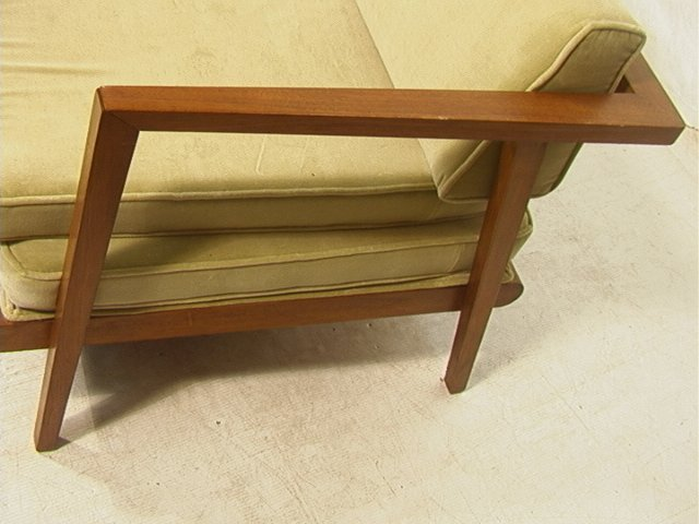 384: MC Modern Daybed Sofa Couch with Trundle. Walnut - 2