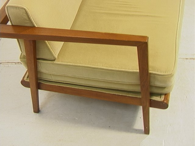 384: MC Modern Daybed Sofa Couch with Trundle. Walnut - 5