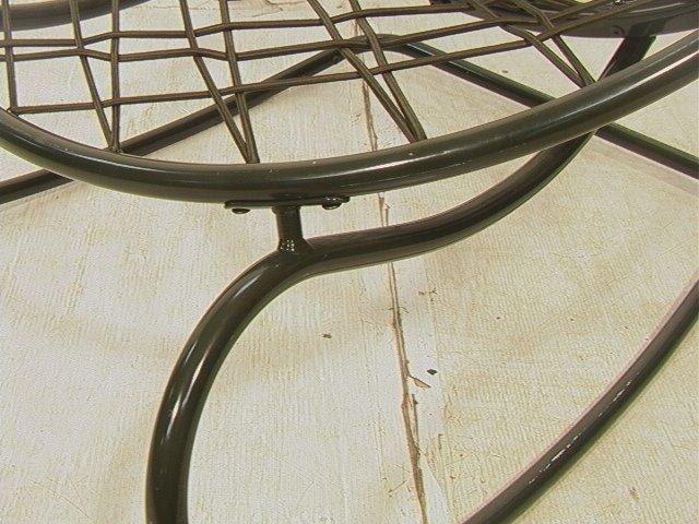 629: Green Bungee Cord Rocking Chair. Metal Circle Fra - 3