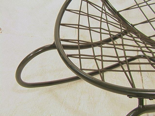 629: Green Bungee Cord Rocking Chair. Metal Circle Fra - 4