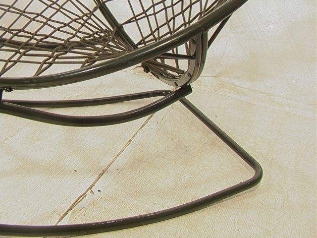 629: Green Bungee Cord Rocking Chair. Metal Circle Fra - 5