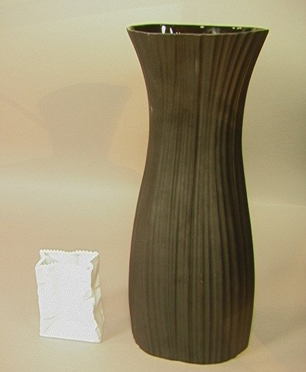 14: 2 ROSENTHAL Ceramic Vases. One Small White Paper