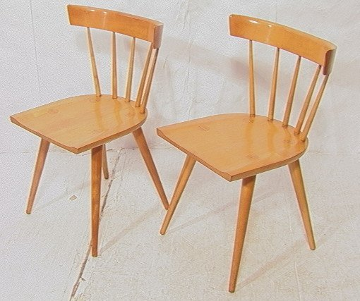 PR PAUL McCOBB Maple Captain s Chairs Tapered Pe