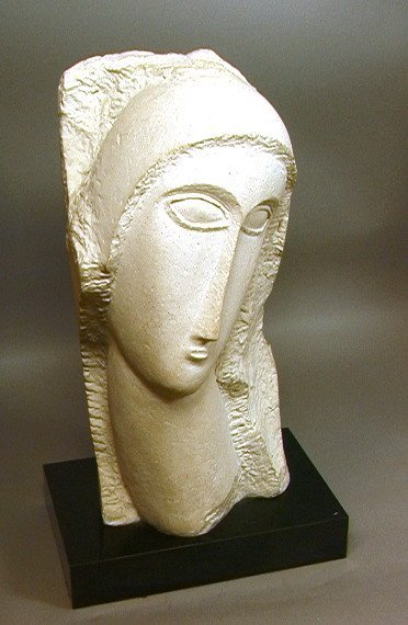 246: Modigliani Austin Prod 1985 Sculpture.  Plaster o