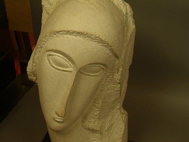 246: Modigliani Austin Prod 1985 Sculpture.  Plaster o - 2