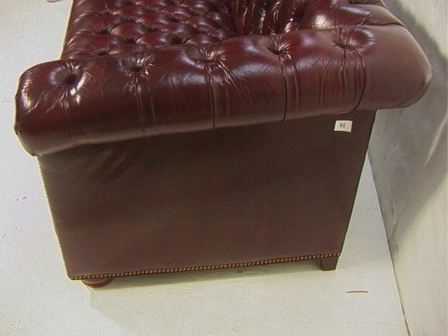 4 Leathercraft Chesterfield Tufted Sofa Couch Bur Lot 4
