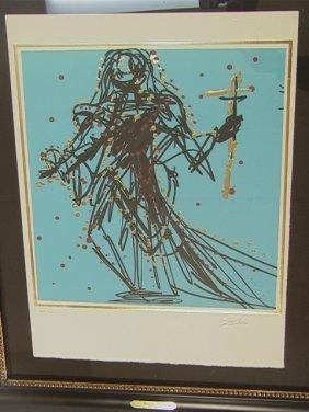 SALVADOR DALI Lithograph Print. JUDE -  The Twelv