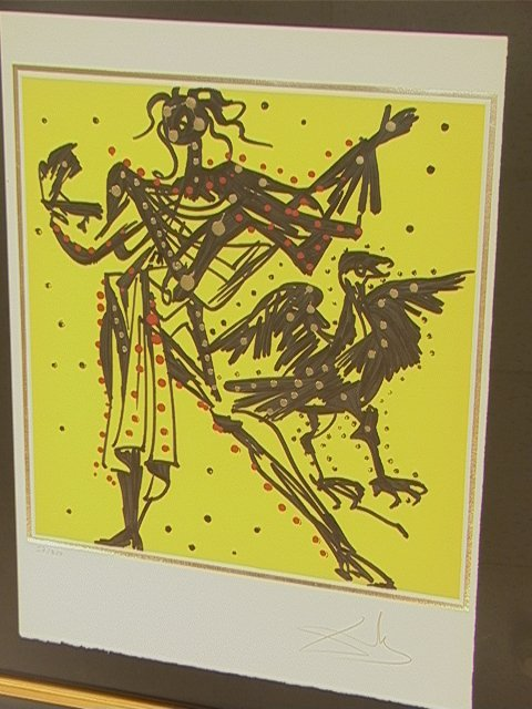 10: SALVADOR DALI Lithograph Print. JOHN -  The Twelv