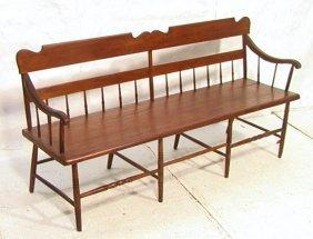 Antique Plank Seat Bench Settle.