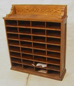 17: Country Oak File Shelf Cabinet.  Multi compartmen