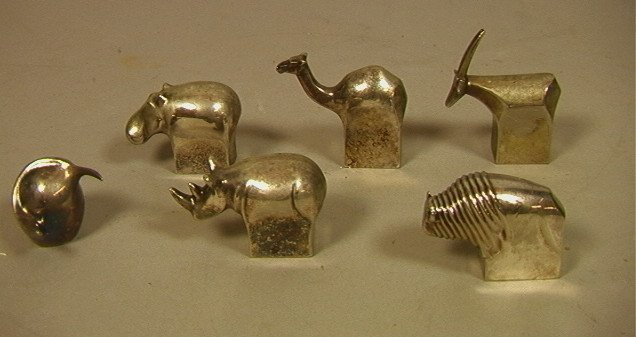 Lot 6 Dansk Silverplate Animals. Includes Bird, H