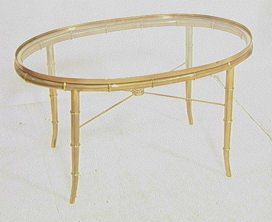 Decorator Italian Faux Bamboo Glass Top Coffee Ta