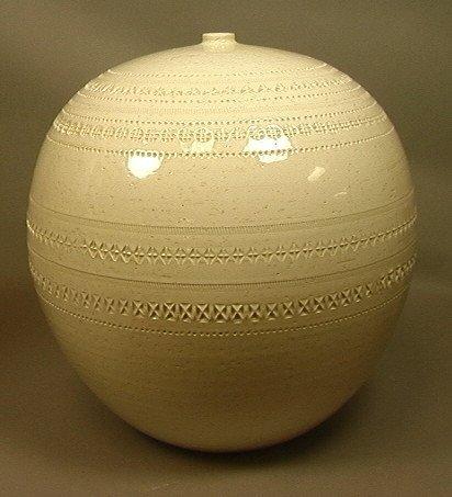 """BITOSSI Style Italian 16"""" Large Ceramic Vase. Cre"""