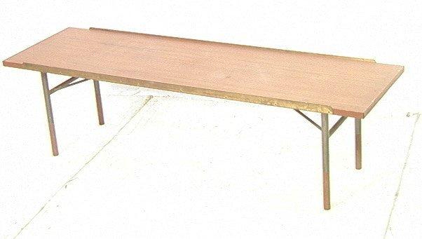 FINN JUHL Danish Modern Teak Coffee Table. Bench.