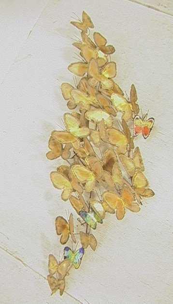 C JERE Butterfly Wall Sculpture. Signed. Enamel &