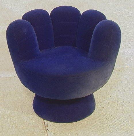 Velvet Upholstered HAND CHAIR Round Chair o