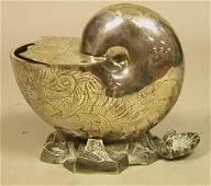 SHEFFIELD Silver Plate Nautilus Spoon Warmer. WIL