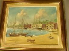 "IAN HANSEN Oil Painting on Canvas Board. ""Circul"