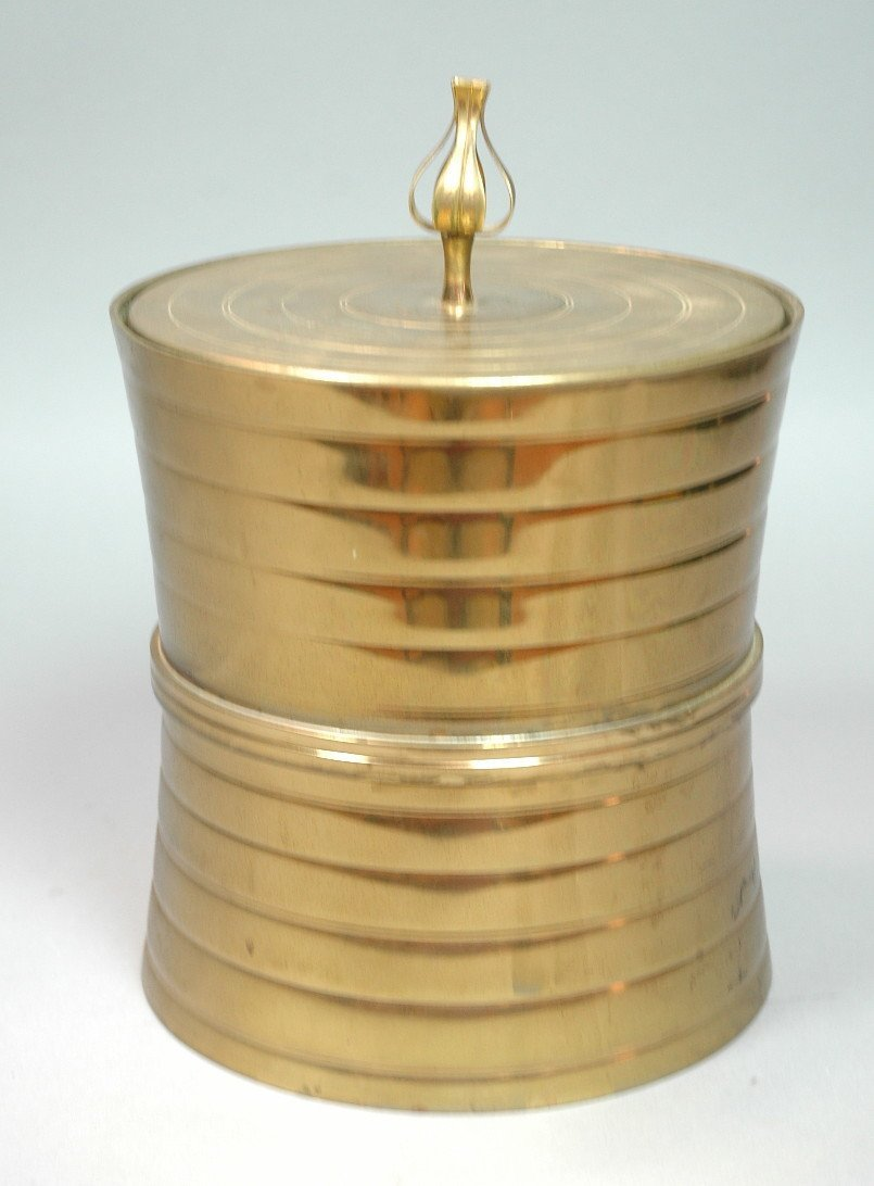 TOMMI PARZINGER Brass Corseted Form Ice Bucket. N