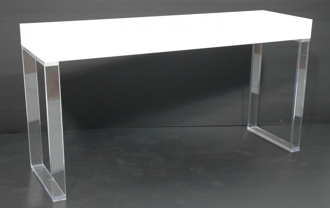 shahrooz lucite acrylic console hall table clear