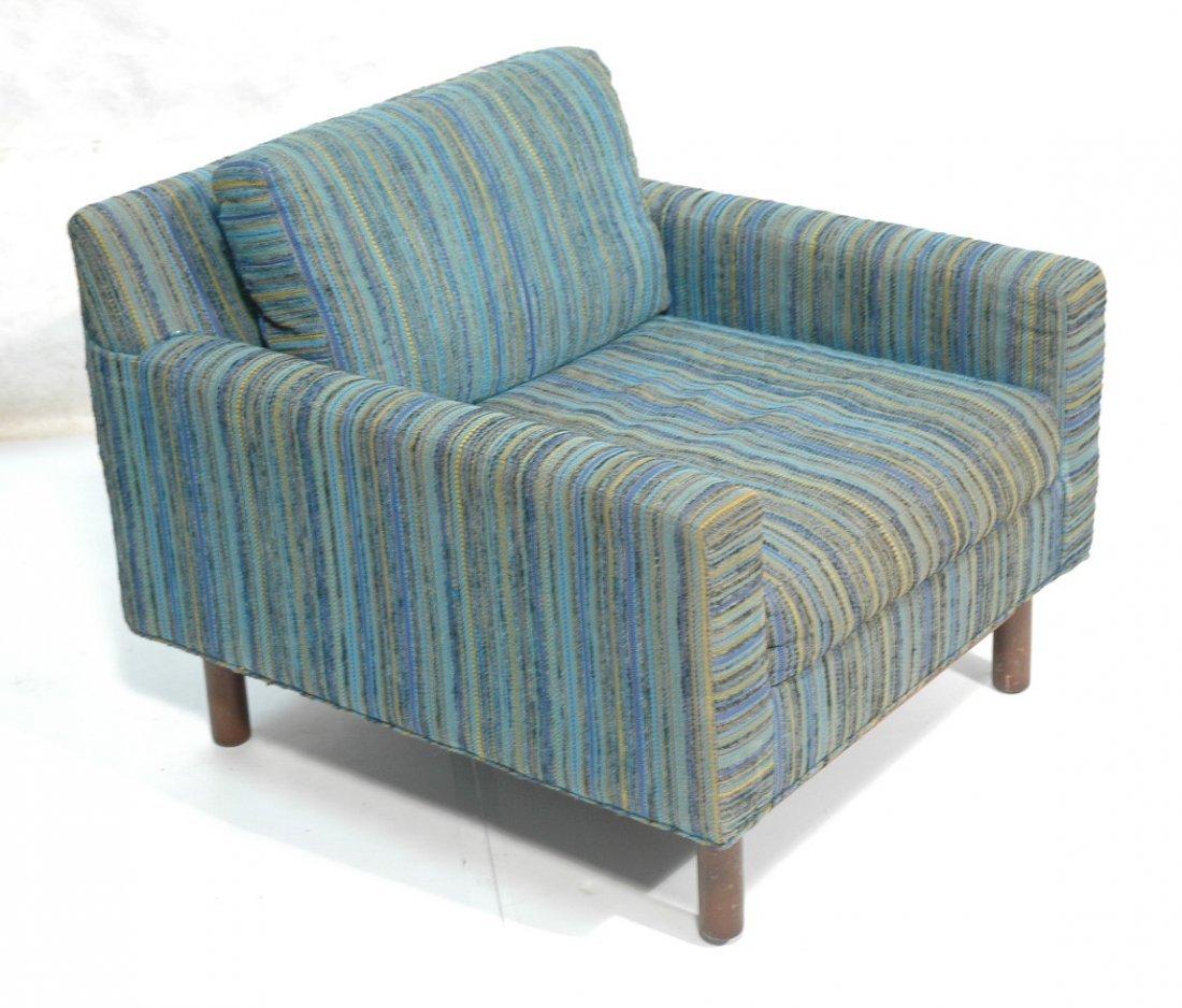 ADRIAN PEARSALL Long Arm Lounge Chair. Blue green