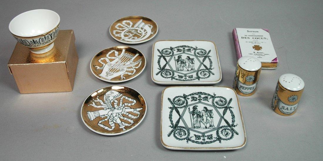 9pc PIERO FORNASETTI Milano Porcelain Lot. S&P