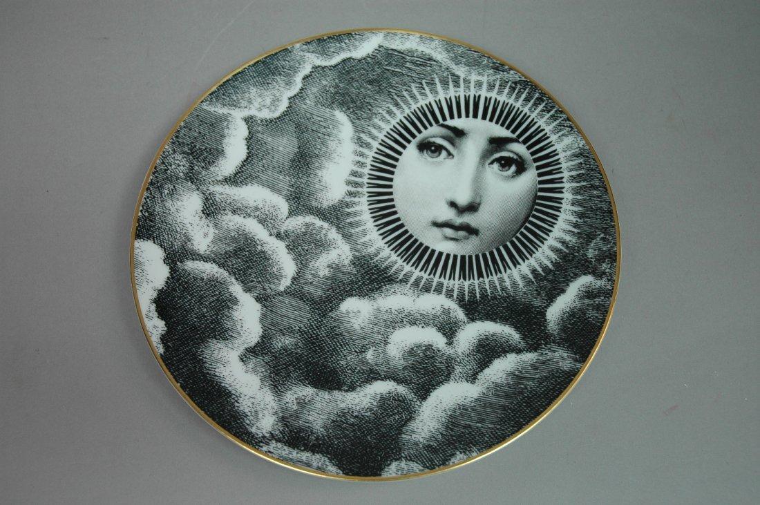 PIERO FORNASETTI for ROSENTHAL Sun Plate. Marked.