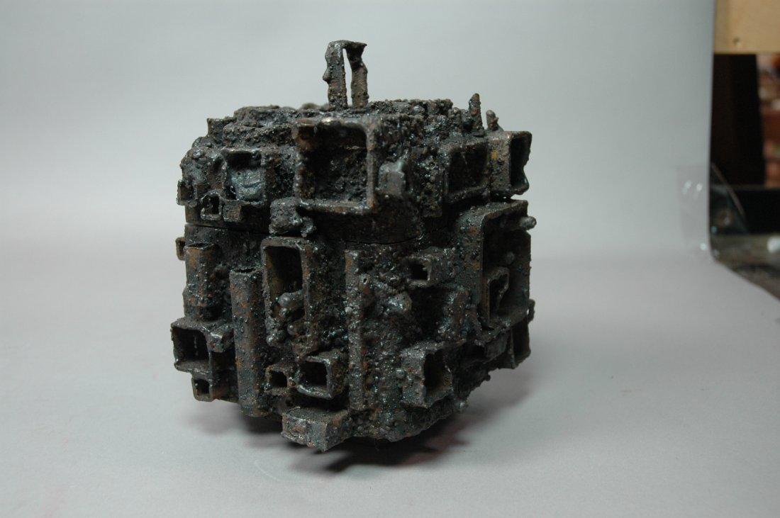 James Bearden Welded Steel Brutalist Sculpture Sq