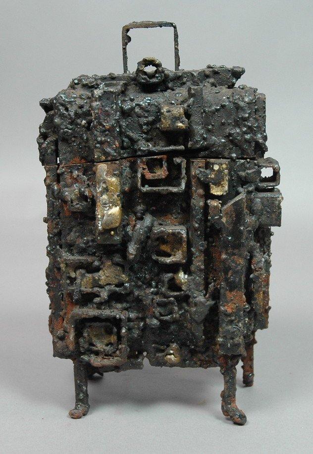 James Bearden Welded Steel Brutalist Sculpture Re