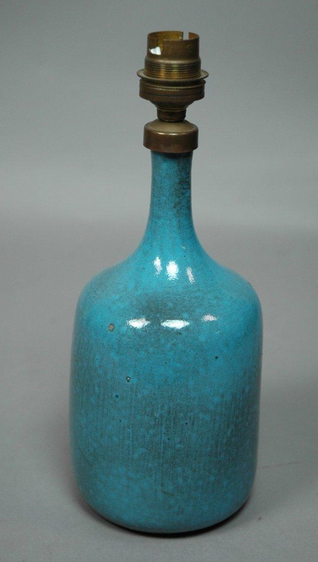 JACQUES & DANI RUELLAND Ceramic Table Lamp. Blue