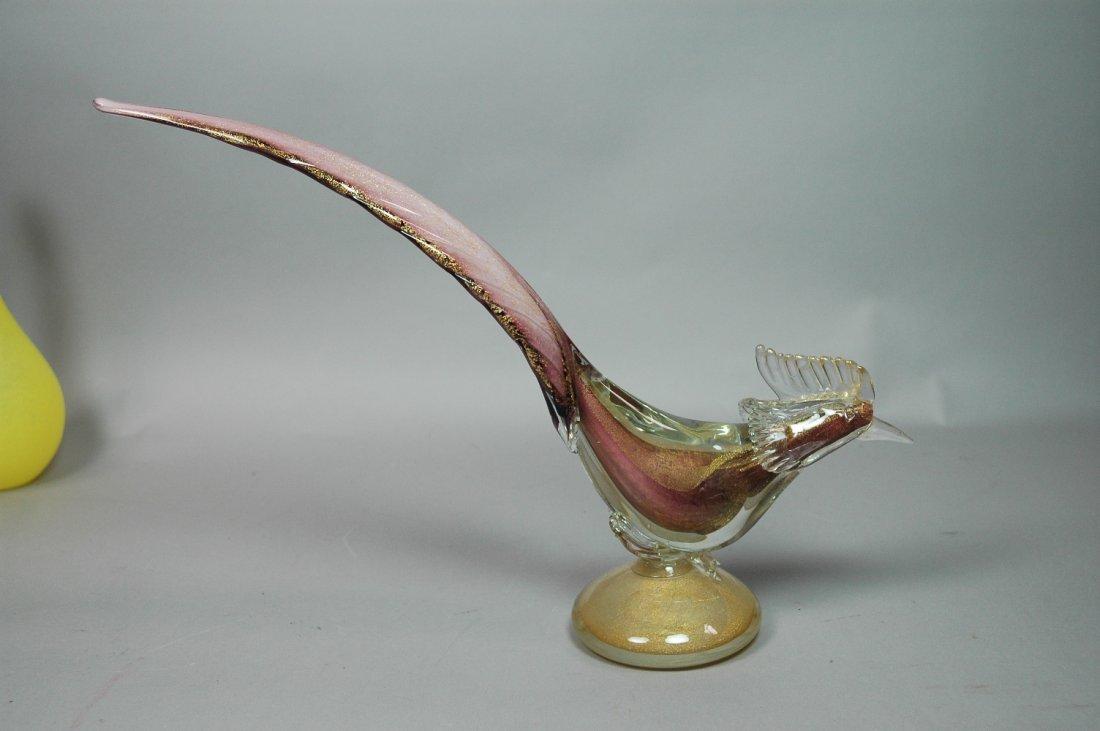 BAROVIER Murano Art Glass Pheasant Bird Sculpture