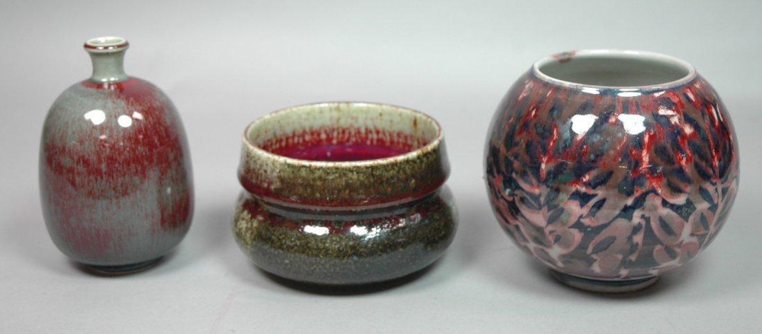 3pc Scandinavian Sweden Pottery. 1. CARL STALHANE