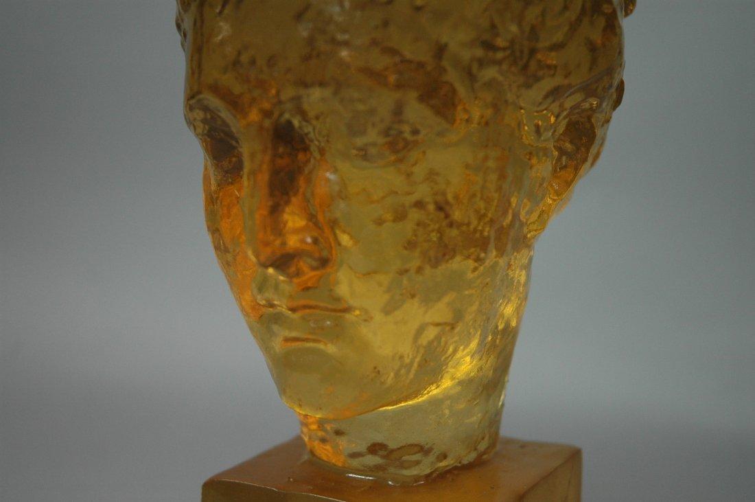 DOROTHY THORPE Resin Bust. Amber Color Acrylic Bu - 2