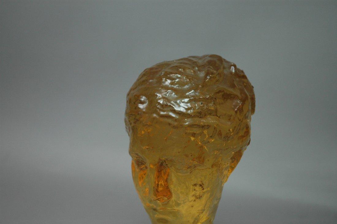 DOROTHY THORPE Resin Bust. Amber Color Acrylic Bu - 3