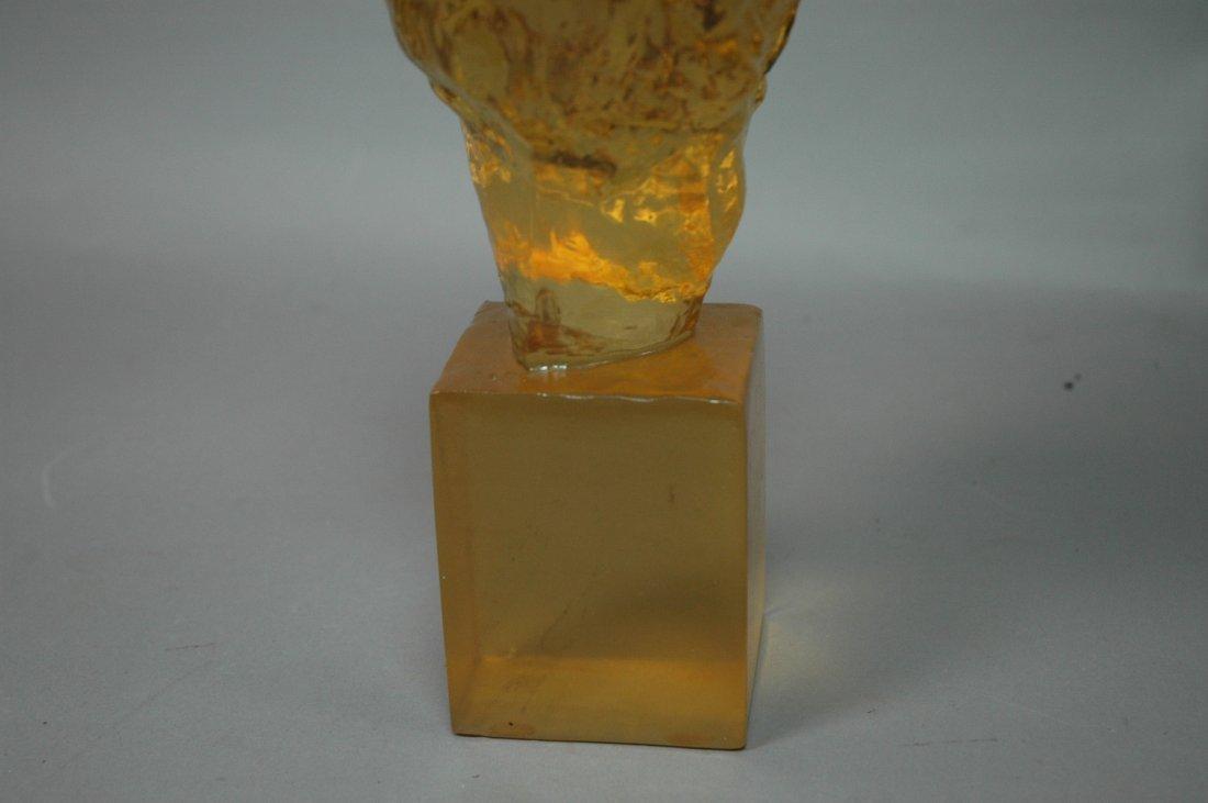 DOROTHY THORPE Resin Bust. Amber Color Acrylic Bu - 5