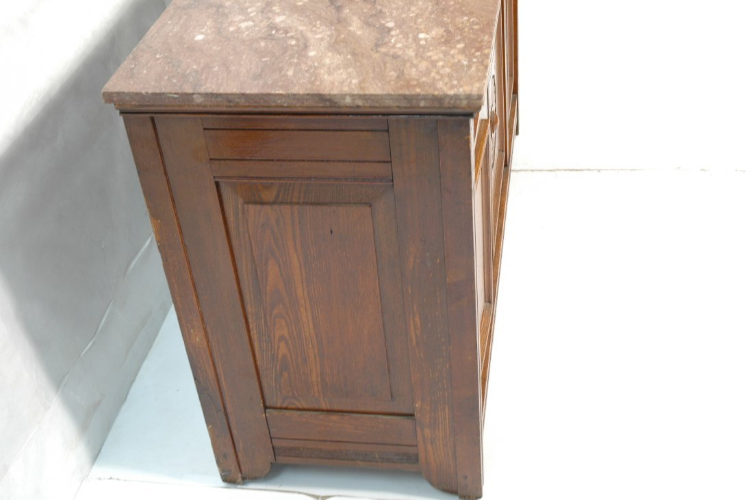 Victorian East Lake Marble Top Sideboard Buffet. - 2