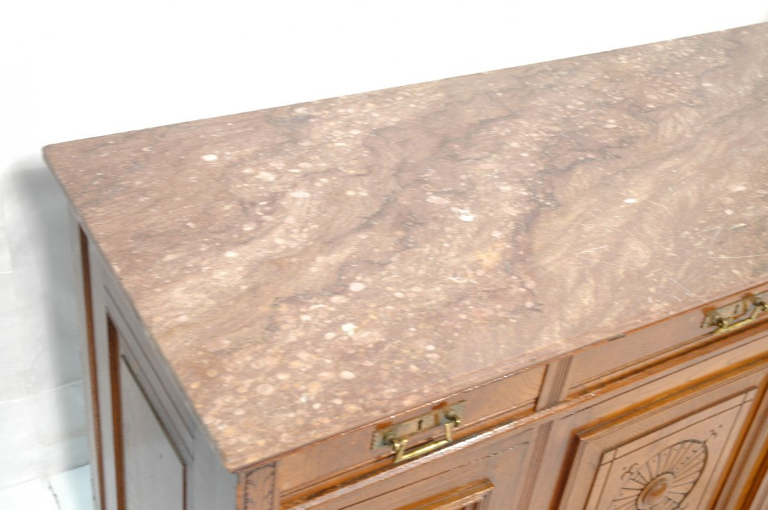Victorian East Lake Marble Top Sideboard Buffet. - 3
